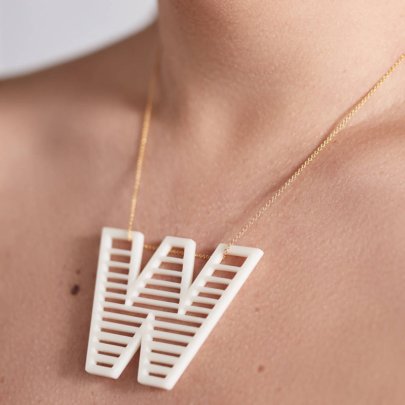 'W' Statement Pendant + Chain - Space to Show