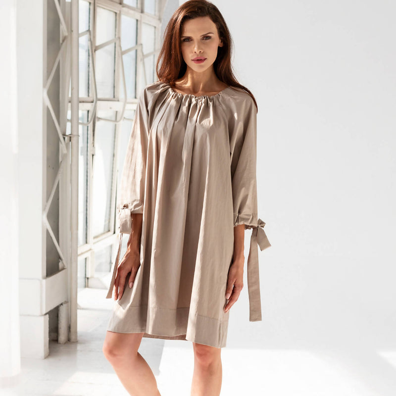 Fabiana Short Beige Dress - Space to Show