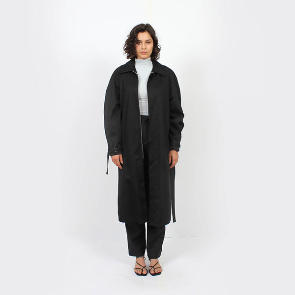 Raglan Trench Jacket : Black - Space to Show