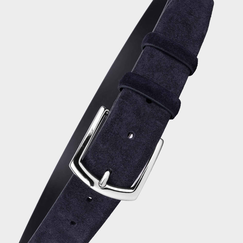 Handmade Leather Belt Blue - Alfredo - Space to Show