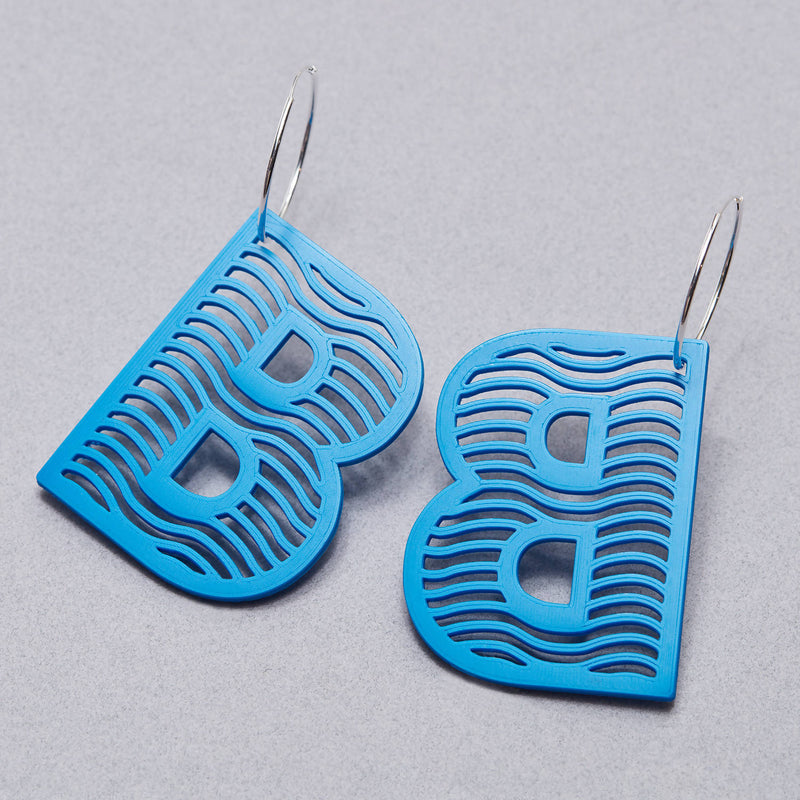 'B' Statement Earrings - Space to Show