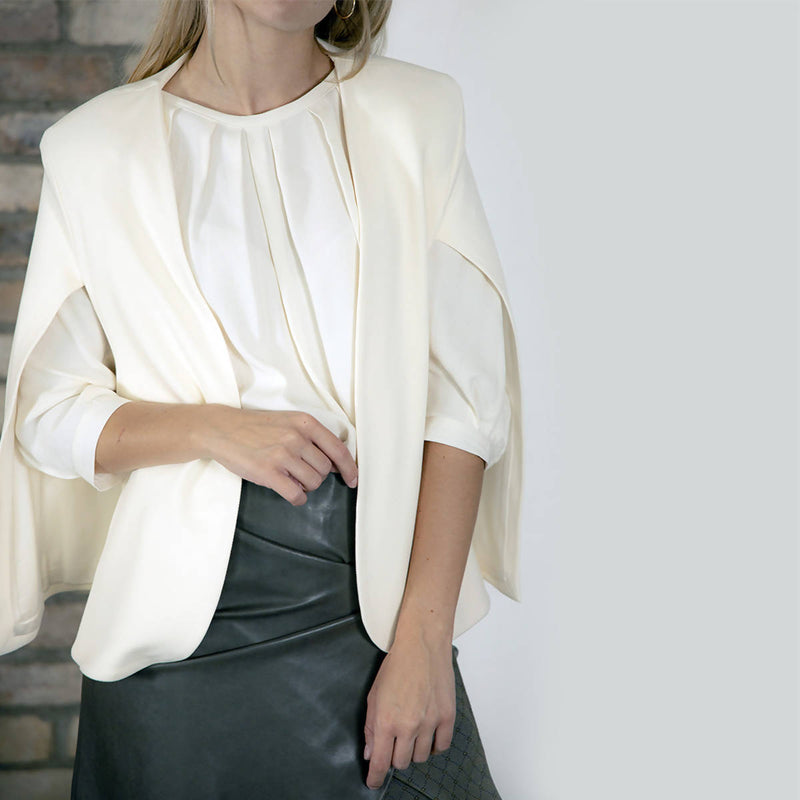 Angela Creme Cape-Jacket - Space to Show
