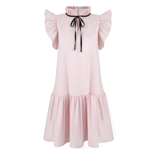 Angela Pink Cotton Dress - Space to Show