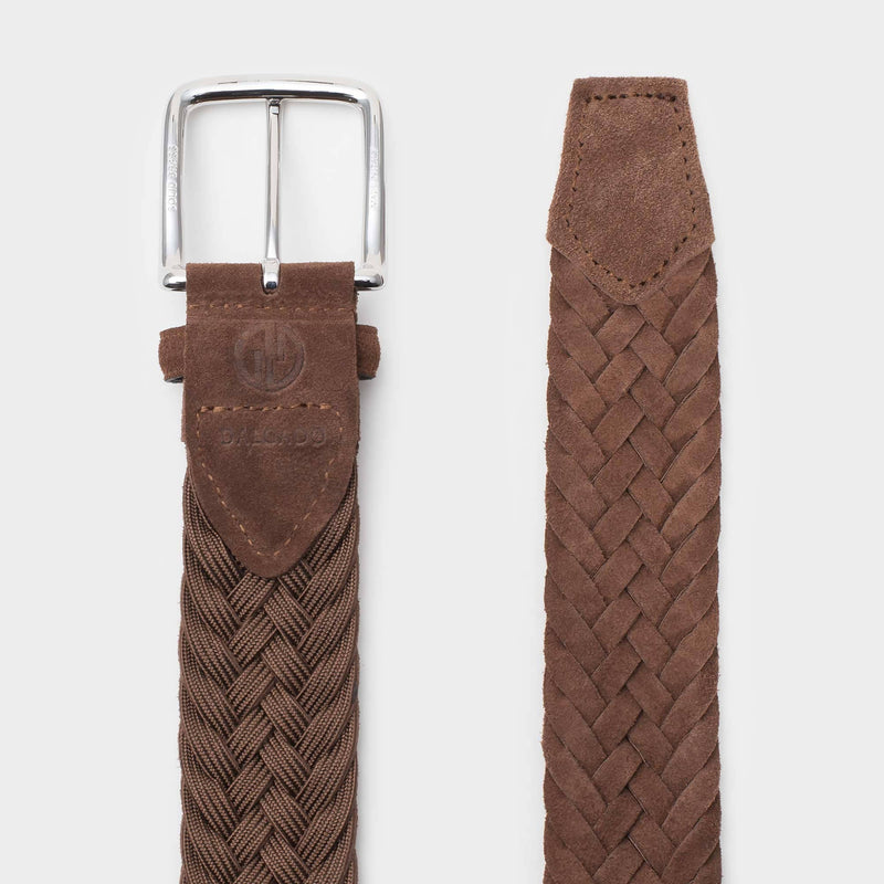 Braided Suede Belt Cognac - Gilberto - Space to Show