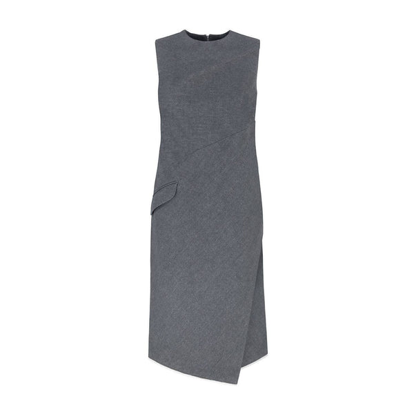 Aster Sleeveless Cotton-Wool Dress - Space to Show