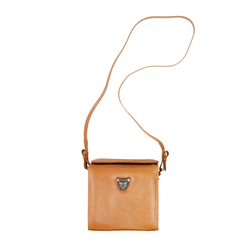 RusiDesigns MicroB Boxy Bag in Tan Leather - Space to Show