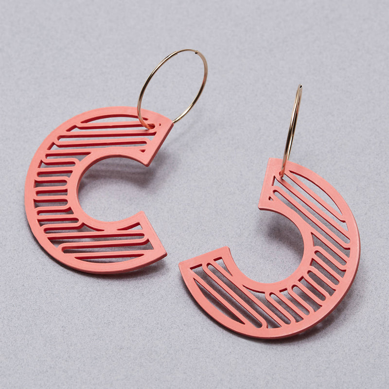 'C' Statement Earrings - Space to Show