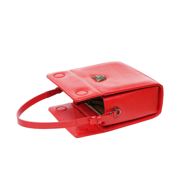 RusiDesigns MicroB Boxy Bag in Red Leather