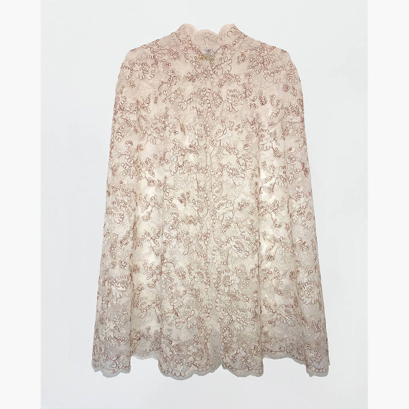 Cream Lace cape - Space to Show