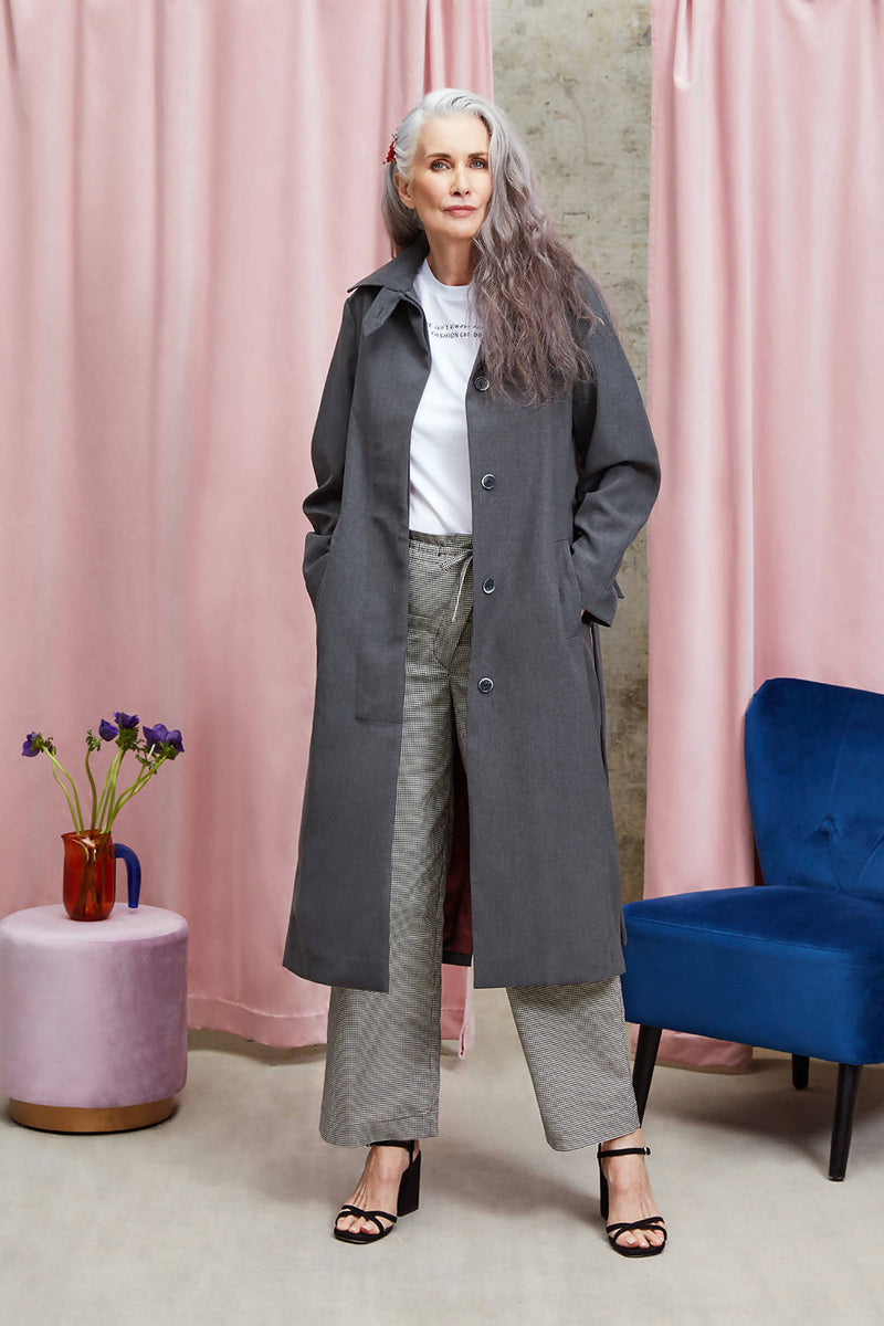 Violet Trench Coat - Space to Show