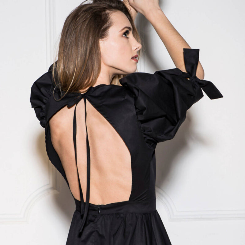 Caroline Blush Backless Dress - Space to Show