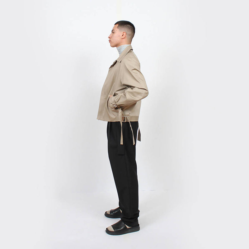 Cropped Raglan Jacket : Khaki - Space to Show