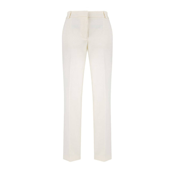 Dana Offwhite Pleated Trousers - Space to Show