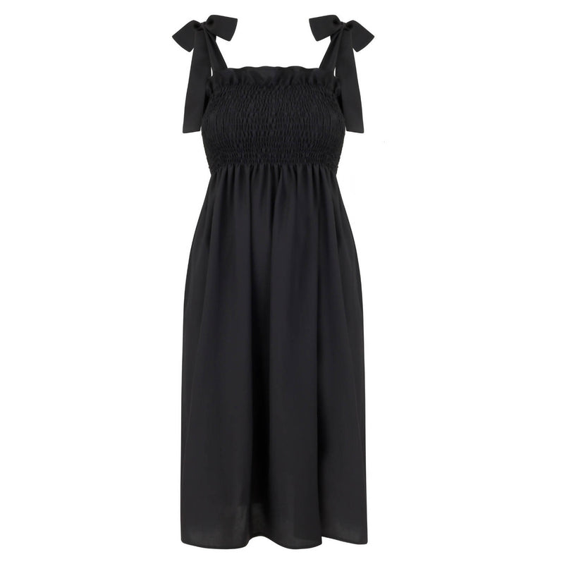 Patti Black Cotton Dress - Space to Show