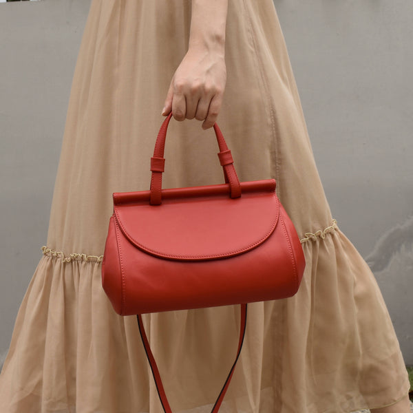 Marie leather bag | Lipstick red - Space to Show