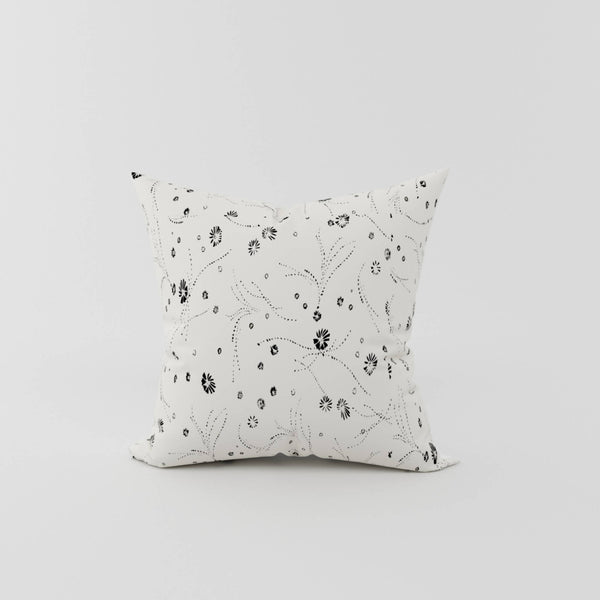 Ivory Silk Printed Cushion - Space to Show