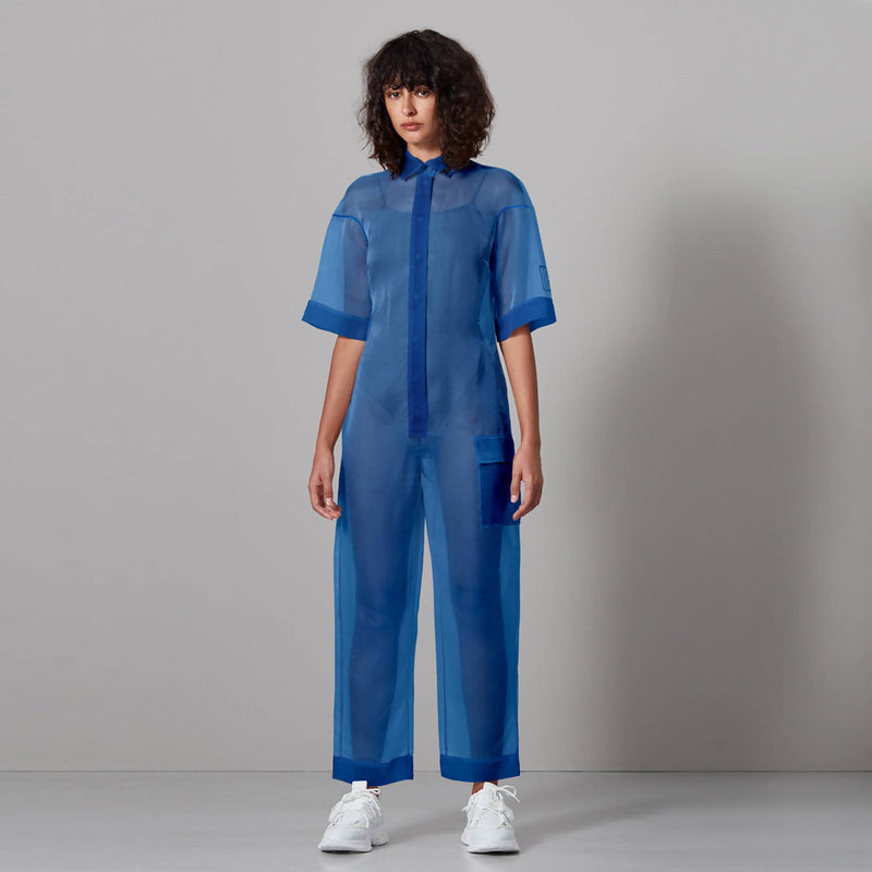 Sheer Jumpsuit - Space to Show