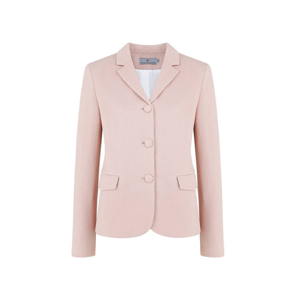Vera Taupe Fitted Cotton-Mix Blazer - Space to Show