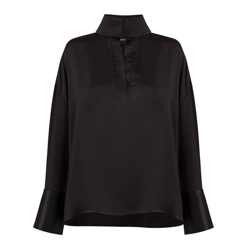 Grace Black Cupro Shirt - Space to Show