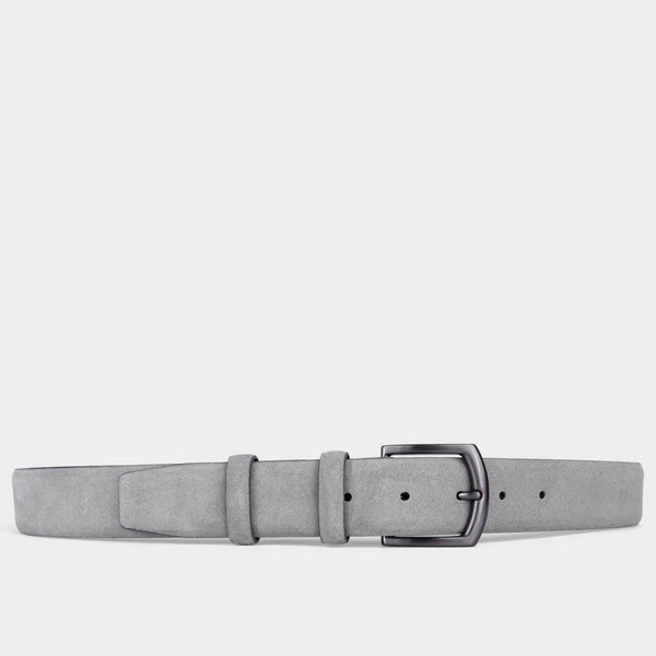 Handmade Leather Belt Grey - Umberto - Space to Show