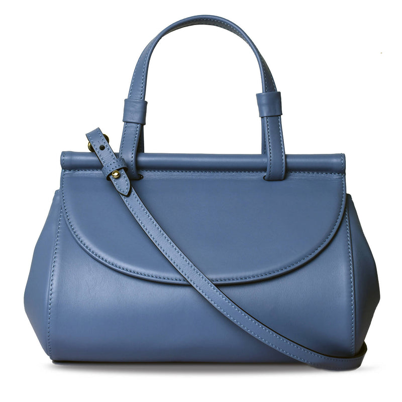 Marie leather bag | Sea blue - Space to Show
