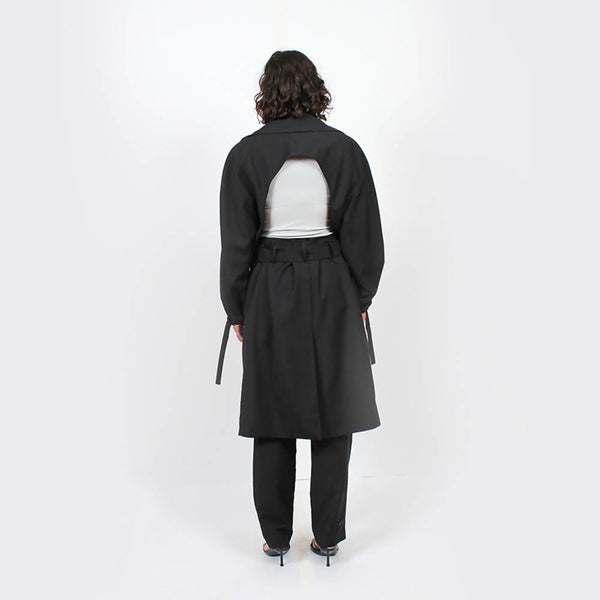 Eclipse Backless Trench : Black - Space to Show