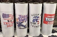 Tumbler - Stainless Steel - 20 oz  Skinny - Imprinted with Color Image