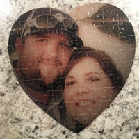 "Puzzle - Cardboard - Heart Shaped - 7.5"" x 7.5"" - 75 Piece"