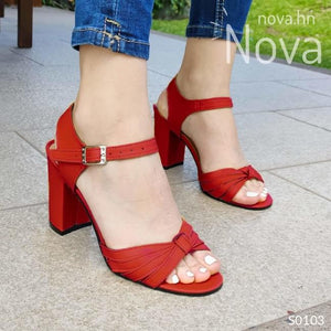 Te Veras Hermosa Con Estas Sandalias Rojo / 35 Normal Zapatos Medianos