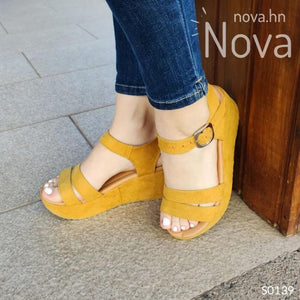 Zapato Casual Hermoso Diseño. De Gamuza Amarillo / 34 Normal Zapatos Medianos
