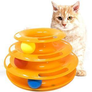 Three Layer Colorful Cat Track Tower Toy – Great For Multiple Cats