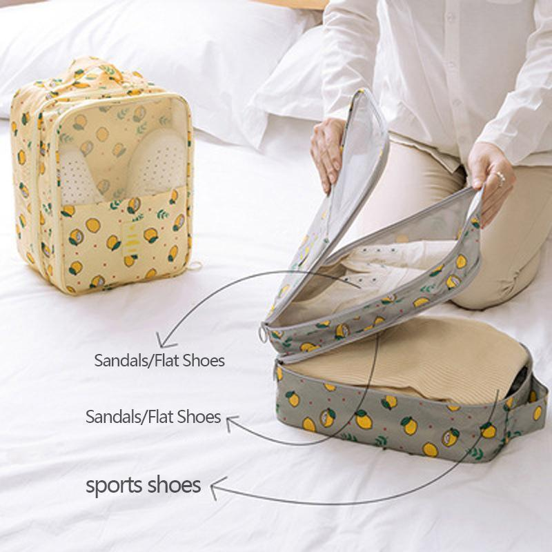 Travel Shoe Bags | Foldable Waterproof Shoe Pouches Organizer-Holds 3 Pair of Shoes