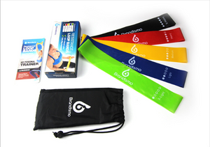 Resistance Exercise Bands for Home Fitness, Natural Latex Workout Bands