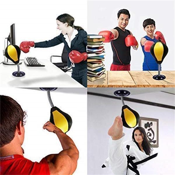 2019 Desktop Punching Bag with Stand Boxing Bag Stress Buster Relief Ball Office Gift