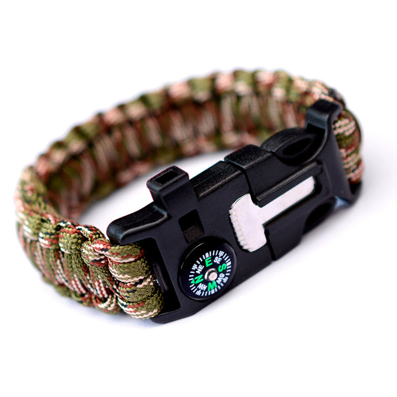 Multifunctional outdoor bracelet