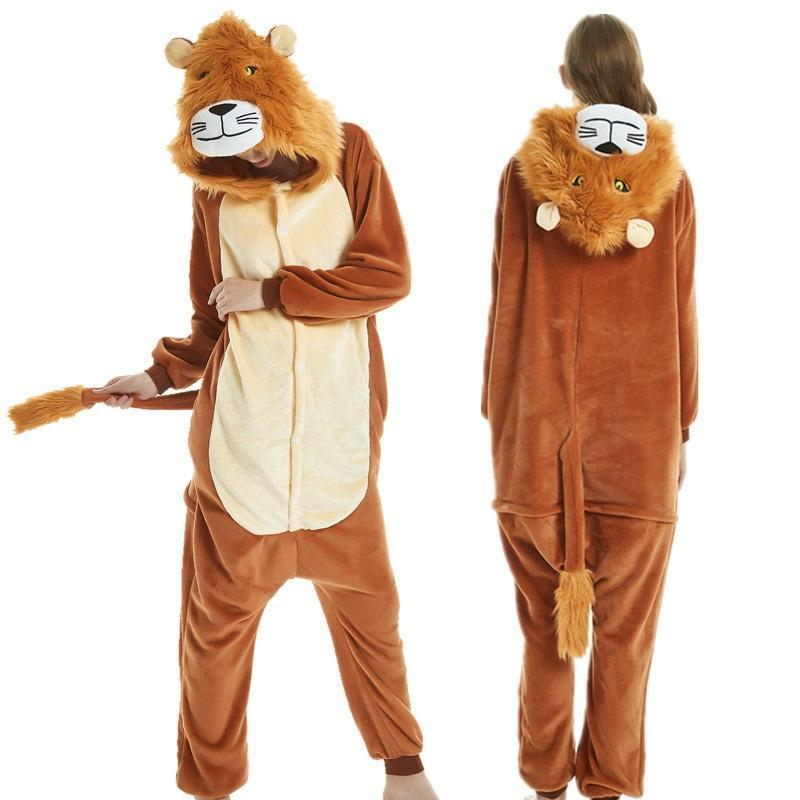 Adult animal conjoined pajamas conjoined plush animal role playing costume