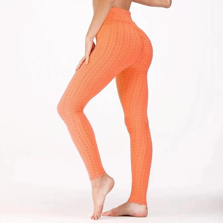 Anti-Cellulite High Waist Butt Lifting Textured Leggings (Buy 2 Free Shipping)