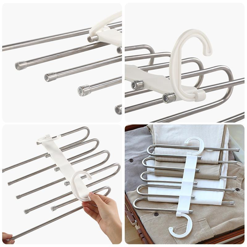 (Last day Promotion!!!) Multi-Functional Pants Rack - yanczi
