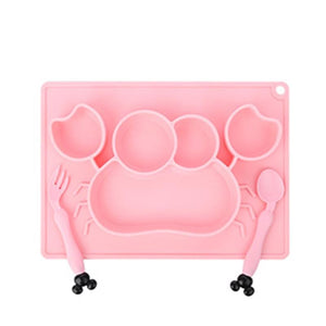 Silicone Baby Feeding Time Plate