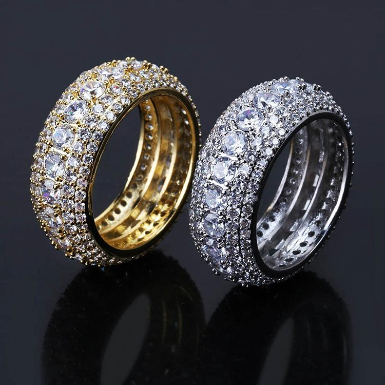 Iced Out CZ Copper Rings