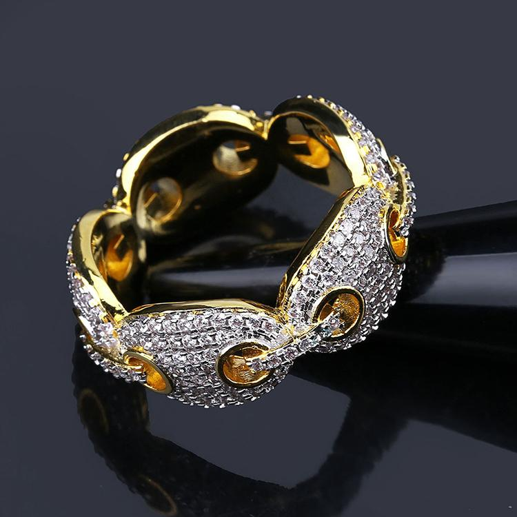 Oval Link Cubic Zirconia Ring