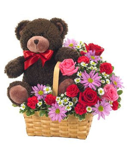 Basket of hugs and kisses XOXO - Blooms In Bloom
