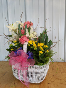 Seasonal blooming Garden Basket - Blooms In Bloom