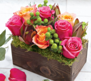 Gift Box of Roses - Blooms In Bloom