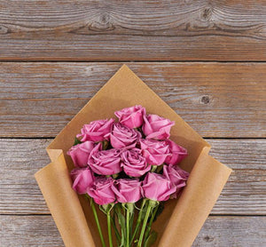 Dozen Lavender Roses - Blooms In Bloom