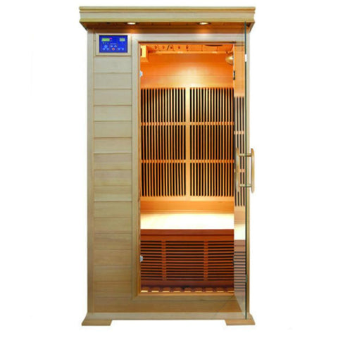 Sunray 1 Person HL100C Barrett Infrared Sauna - BathVault