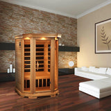 Golden Designs 2 Person Low EMF Far Infrared Sauna GDI-6272-01 - BathVault