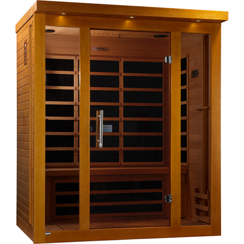 Golden Designs 3 Person Infrared Sauna Dynamic Florence Edition DYN-6315-01 - BathVault