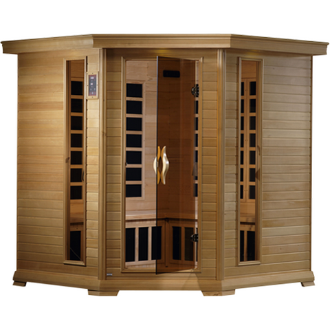 Golden Designs 4-5 Person Near Zero EMF Far IR Sauna GDI-6445-01 - BathVault