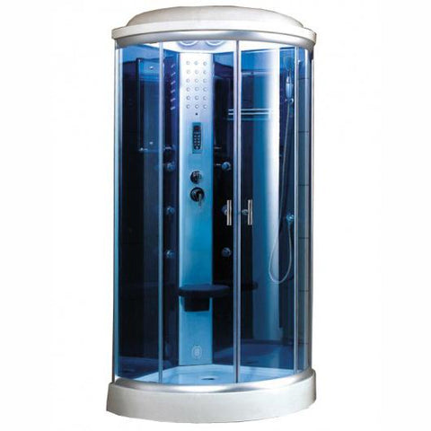 "Mesa 9090K Steam Shower 36""L x 36""W x 87""H - Blue Glass - BathVault"